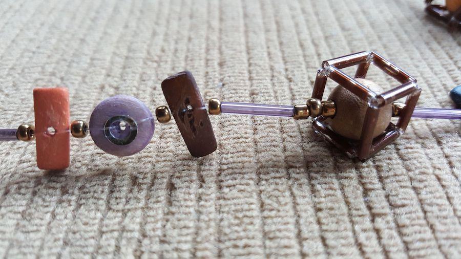 close up of individual beads