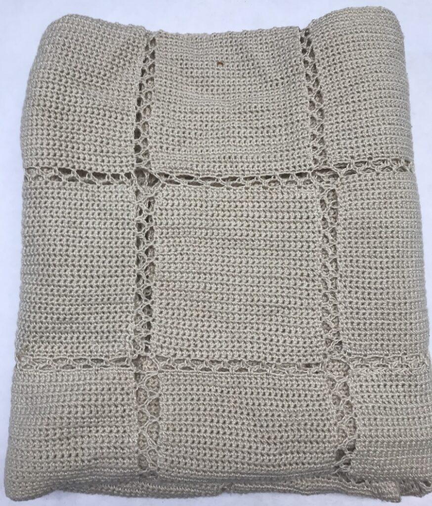 Crocheted Afghan, folded
